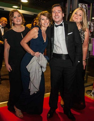 Image of a group of business people at a red carpet event to illustrate corporate events photography in wiltshire UK